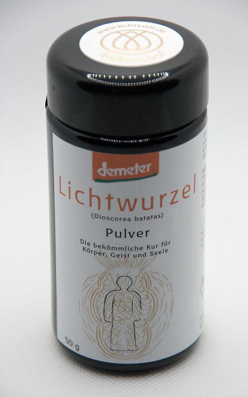 Lichtwurzel-Pulver handvermahlen in Zusammenarbeit mit dem Andreashof - Draufsicht