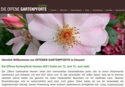 Die offene Gartenpforte - Hessen